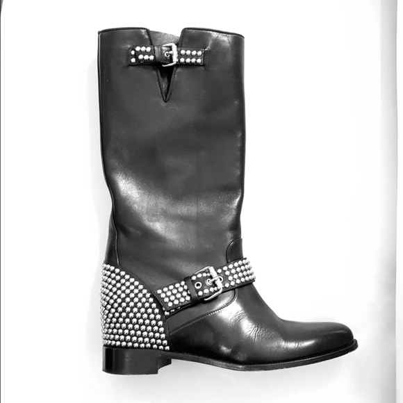 online store e8bd4 0154a Christian Louboutin Studded Leather Boots